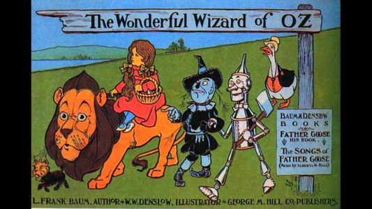 Cover art from Frank Baum's The Wonderful Wizard of Oz
