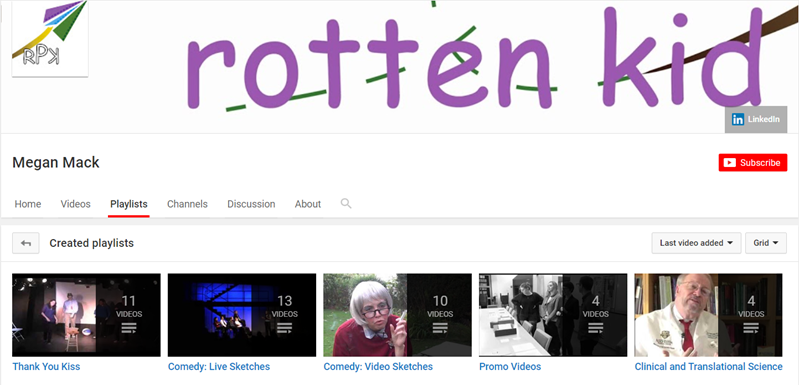 Megan Mack rotten kid YouTube playlist